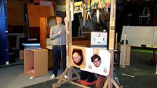 We've been assured the rehearsal guillotine is safer than it looks!