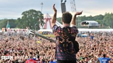 Foals at Reading Festival 2013