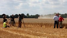 Filming in the field