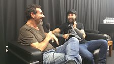 Serj and Dan chatting