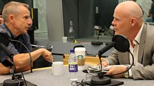 7 September 2013: (L-R) Jeremy Hardy and Thomas Dolby