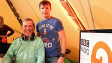 James Blunt with Sir Terry Wogan
