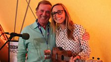 Emma Stevens with Sir Terry Wogan