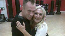 Vanessa and dance partner James Jordan
