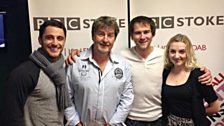 The cast of Houdini - Jamie Nichols, Stuart Brennan and Evana Lynch