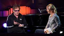 Elton John and Jo Whiley