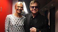 Jo Whiley and Elton John