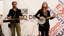 Phillip Henry and Hannah Martin performing live on stage