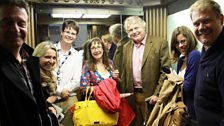 14 September 2013: Going up! A lift-full of Loose Ends guests