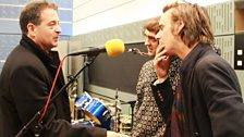 14 September 2013: Mark Thomas chats to Toby Kidd and Riley Difford of Hatcham Social