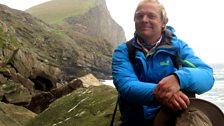 Paul Murton on the sea cliffs of Fair Isle