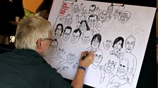 Clive Goddard continues work on his Hyde Park cartoon