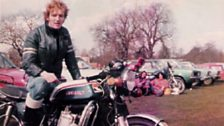David Waddington and his GT 750 in 1977