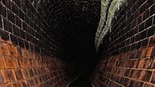View down the sewer tunnel