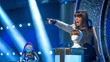The mighty finger of Claudia Winkleman