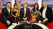 Monday's guests with Bill & Susanna