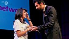 Ranbir Kapoor with a fan