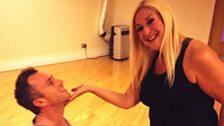 You've got to hand it to Vanessa's dancing partner!