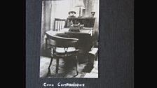 Frank's desk, typewriter & telephone