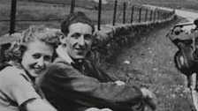 Frank, Doris and Tandem in North Wales 1938