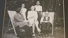 Doris with her mother, father, brother and sister, 1938