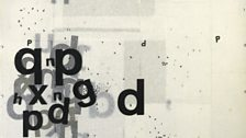 Graphic Object 1973, Transfer lettering on paper with acrylic - Mira Schendel 1919-1988