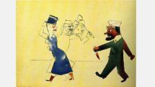 George Grosz - John, der Frauenmörder (John, the Woman Slayer), 1916.