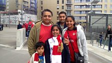 Yatin and his family go to all Arsenal home games.