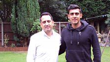 Malvind Benning and dad Ajaib