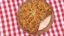 Episode 2 - Bread - Ruby's White Chocolate & Orange Peacock Bread