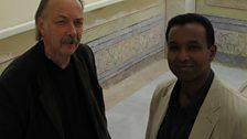 Rageh with historian Heath Lowry