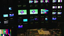 Inside the 'scanner' - BBC's production truck