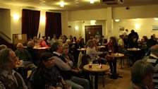 The audience builds at the Ritz Acoustic Club
