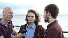 Richard Pitt interviewing Bridges on Burnham seafront