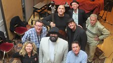 Singer Gregory Porter with pianist Chip Crawford...