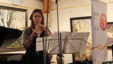Emily Pailthorpe oboist of the London Conchord Ensemble at Champs Hill