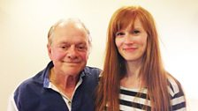 Sir David Jason with Crikey DM! Producer Kellie Redmond at the script recording in London
