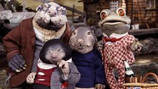 Toad, Badger, Mole and Ratty from Cosgrove Hall's stop frame animation Wind in the Willows © FremantleMedia