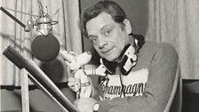 David Jason recording Danger Mouse in the 80s © FremantleMedia