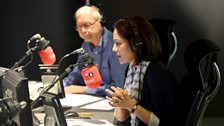 Mishal Husain and John Humphrys