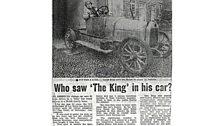 Car Buick o 1919, oedd yn perchen i wr o Abertawe ond bu mewn damwain ym Mwlchllan.
