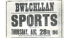 Poster 'Sports' Bwlchyllan