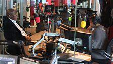 Focus on Africa studios are frequently visited by some of the continent's best known politicians and artists