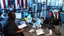 Focus on Africa's presenter Paul Bakibinga, interviewing Nigerian singer, actress and entrepreneur May7ven, in July 2013