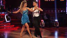 Rachel and Pasha dance the Cha Cha