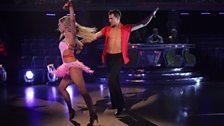 Ashley and Ola dance the Samba