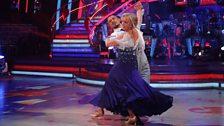 Deborah and Robin dance the Quickstep