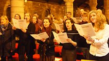 Members of Glasgow Chamber Choir during rehearsals at St Margaret's