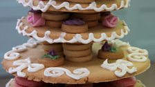 Episode 5 - Biscuits and Traybakes - Beca's Tiered Macaron and Sugar Dough Biscuit Centrepiece