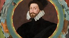 Double sided emblematic portrait of Sir Christopher Hatton - Ascribed to workshop of William Segar, c1580